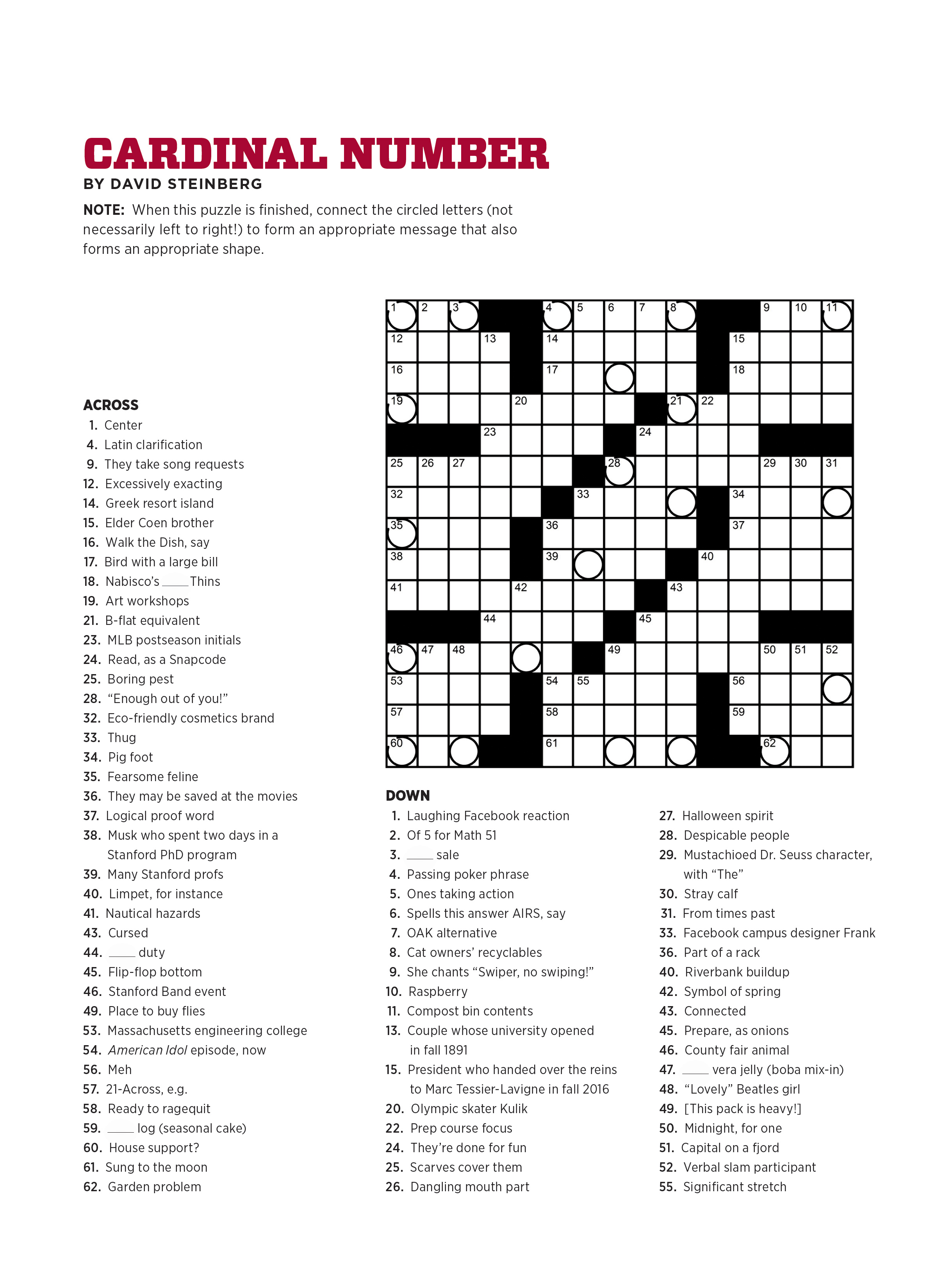 Stanford magazine article click for full printable crossword biocorpaavc