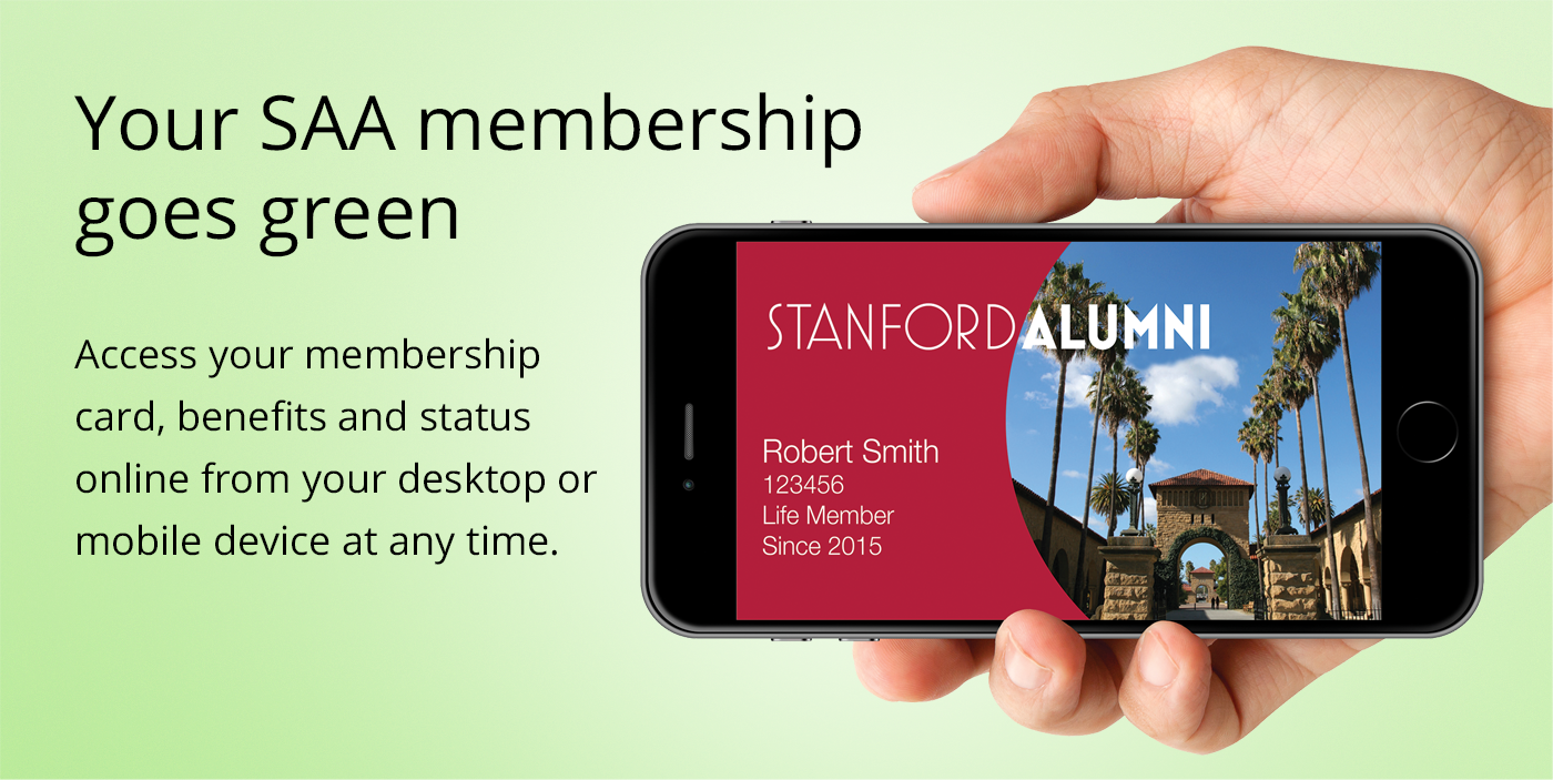 Your SAA membership goes green - Access your membership card, benefits and status online from your desktop or moible device at any time.