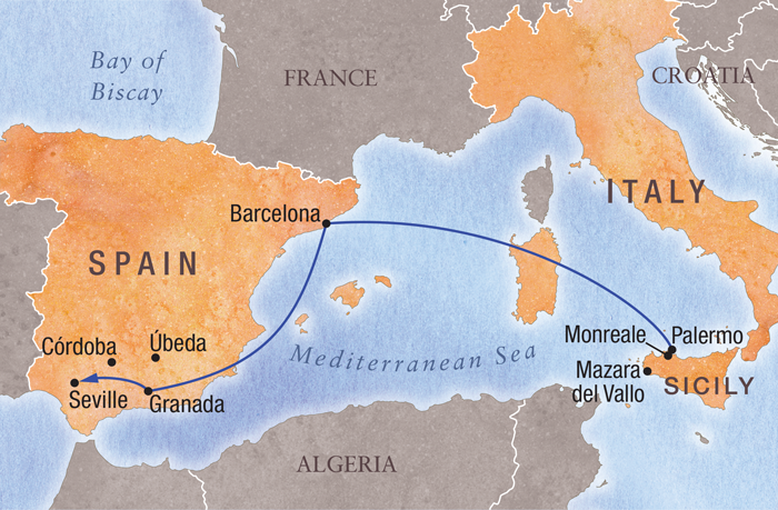 Map Of Southern Spain And France.Trip Details Travel Study Stanford Alumni Association