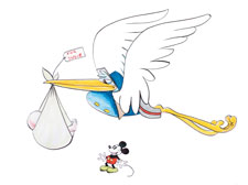 Stork and Mickey Mouse