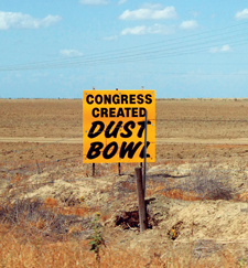 Dust Bowl sign